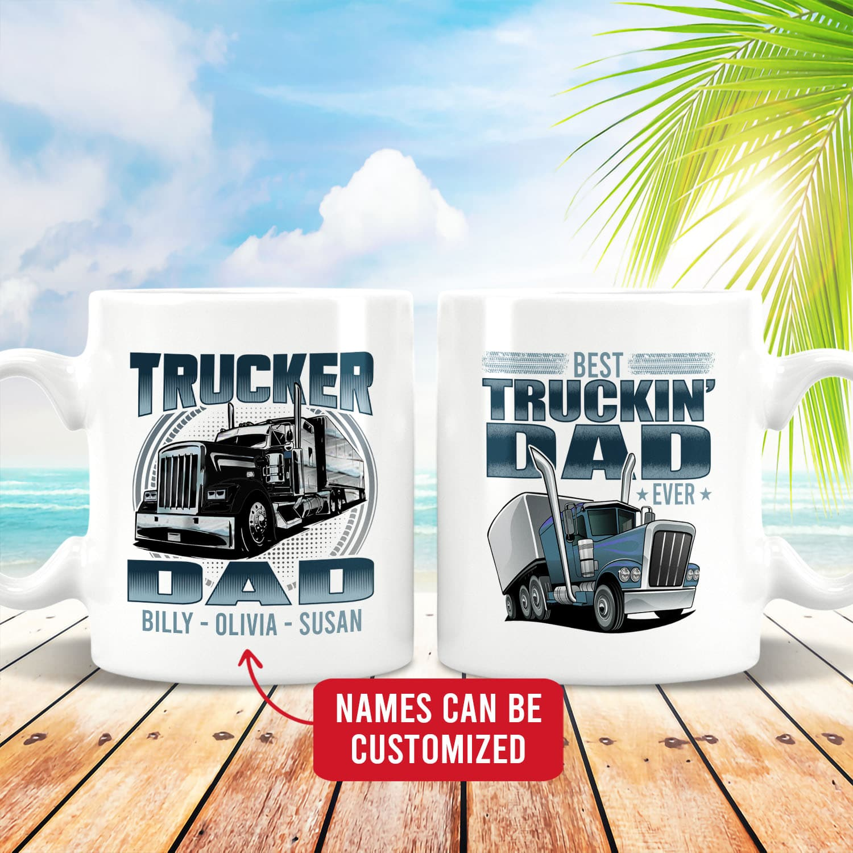 Personalized Best Trucking Dad Ever Mug