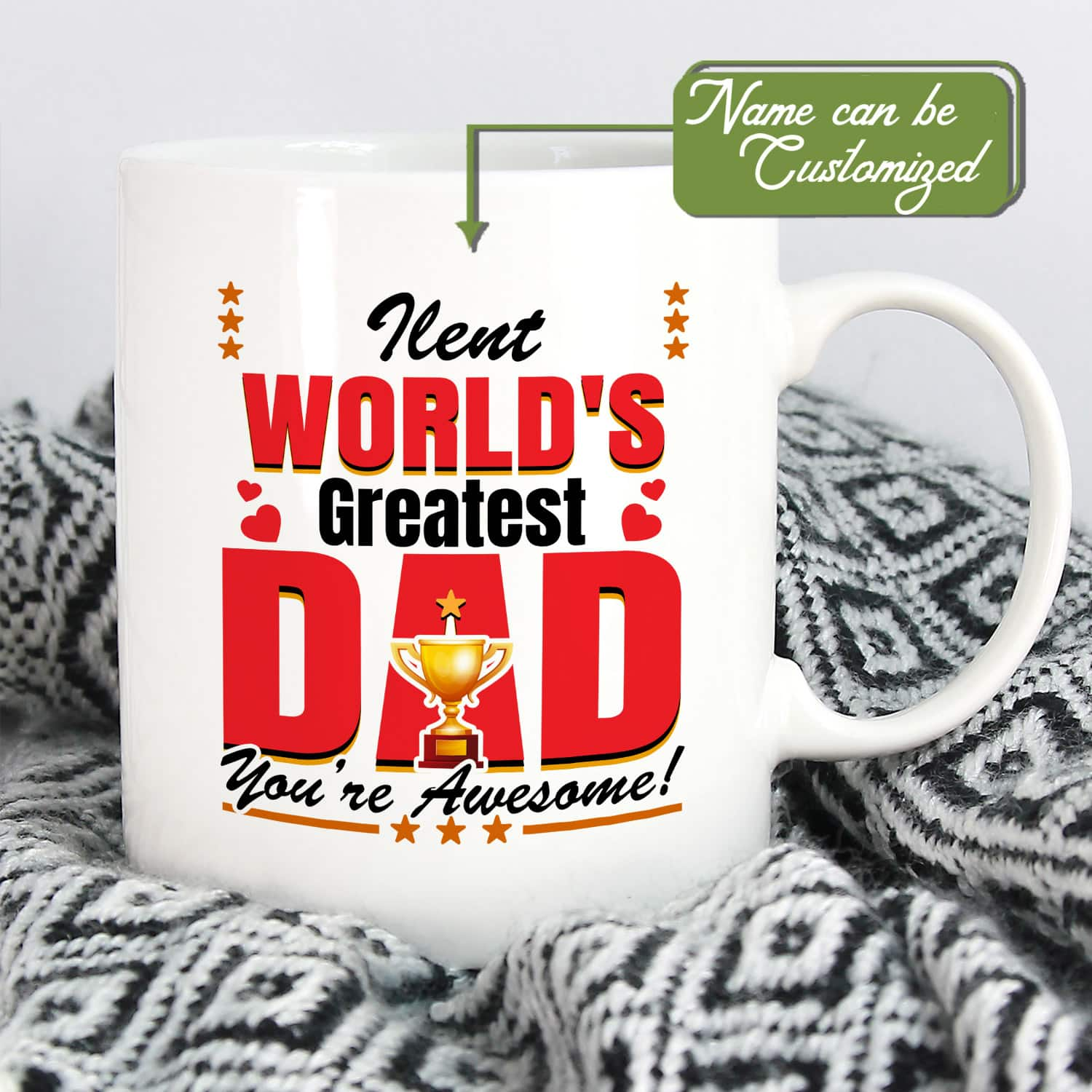 Personalized World Greatest Dad You are Awesome trophy Mug