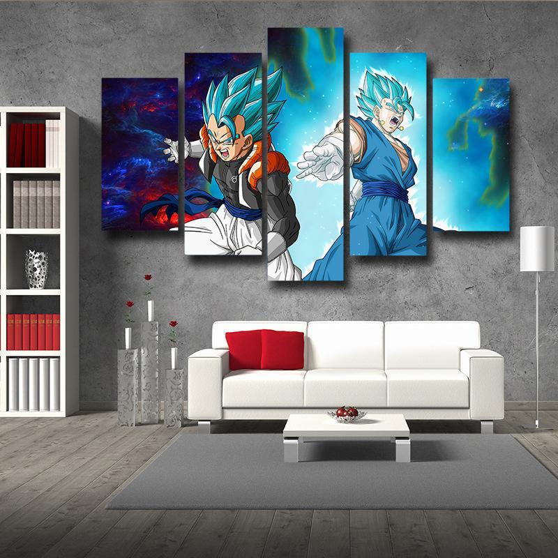 Dragon Ball Gogeta Vegito Galaxy 5 panel Wall Art Print