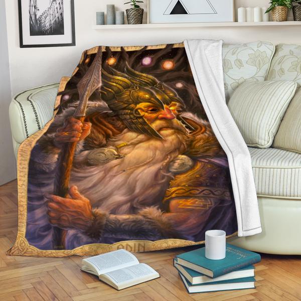Viking Odin Fleece Blanket