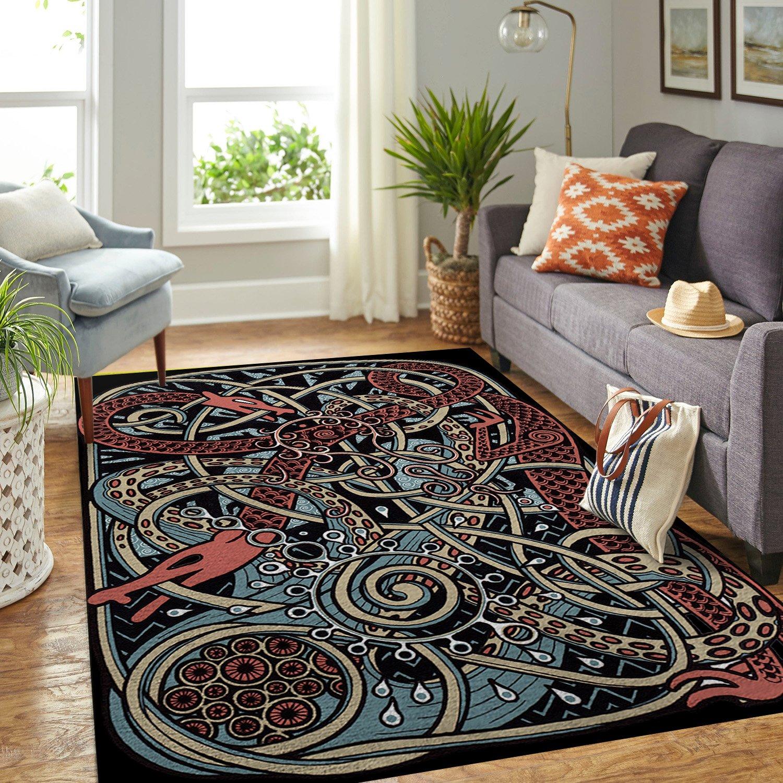 Viking Dragon Area Rug Carpet Rug