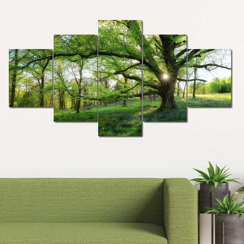 Master Tree 5 panel wall art canvas
