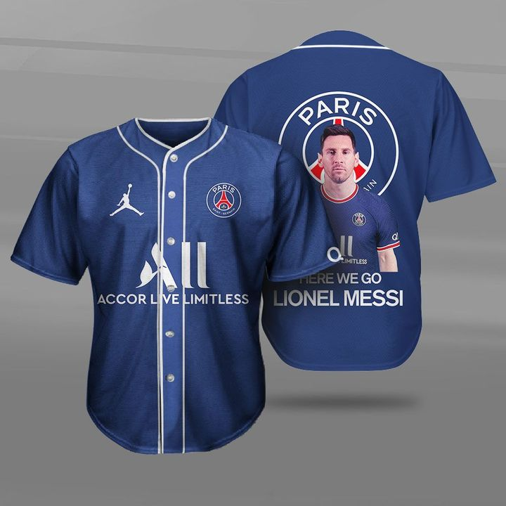 Messi PSG Champions League Shirt 3D