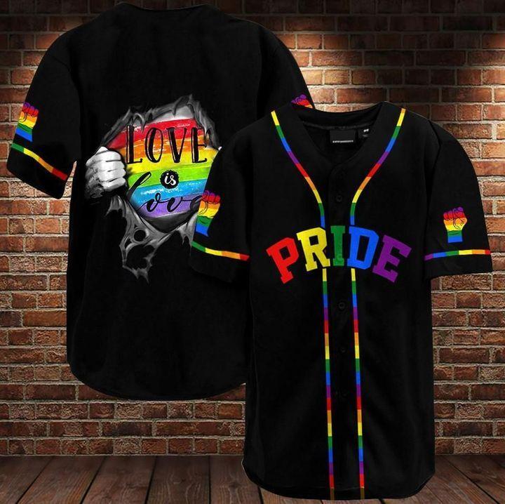 LGBT Pride Baseball Jersey Shirt