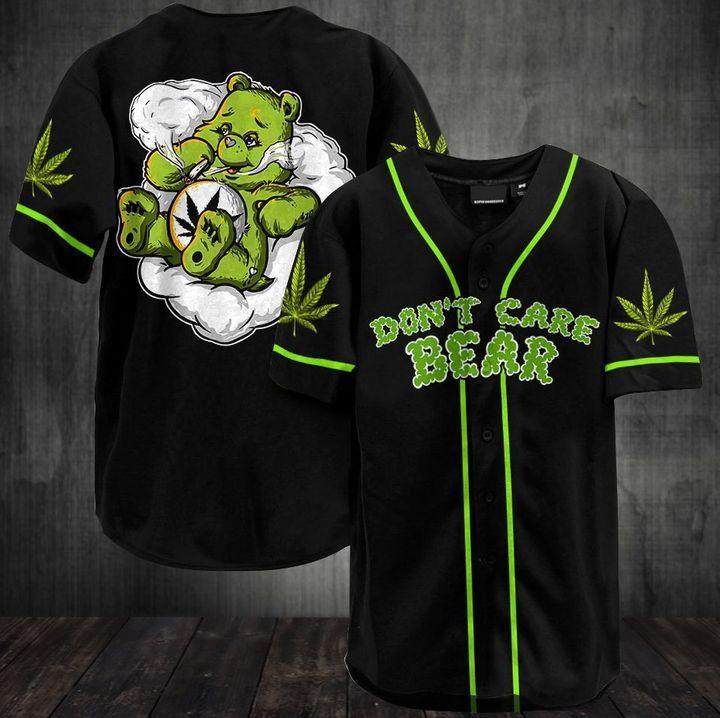 Don't Care Bear Baseball Jersey Shirt