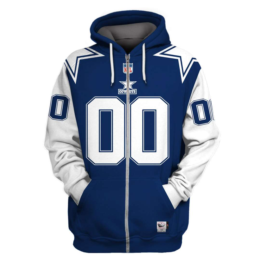 Custom Name Number NFL Dallas Cowboys 3D hoodie sweatshirt