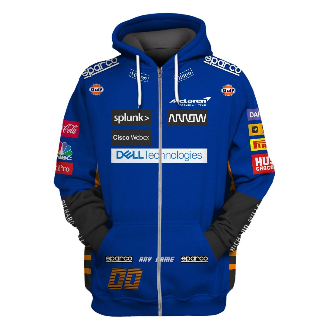 Personalized Sparco Mc Laren F1 racing hoodie and sweatshirt