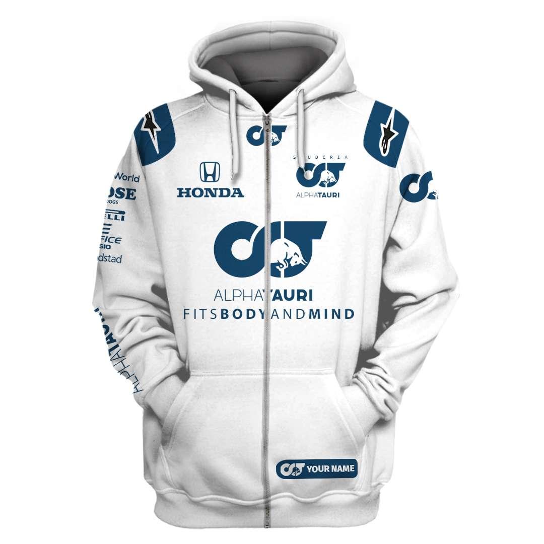Alphatauri F1 team white version Hoodie and T Shirt