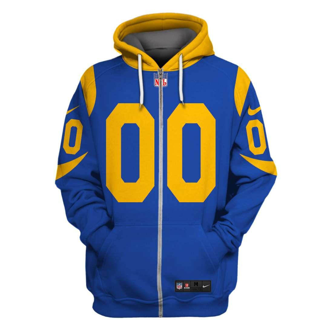 Personalized NFL Los Angeles Rams Branded hoodie sweatshirt
