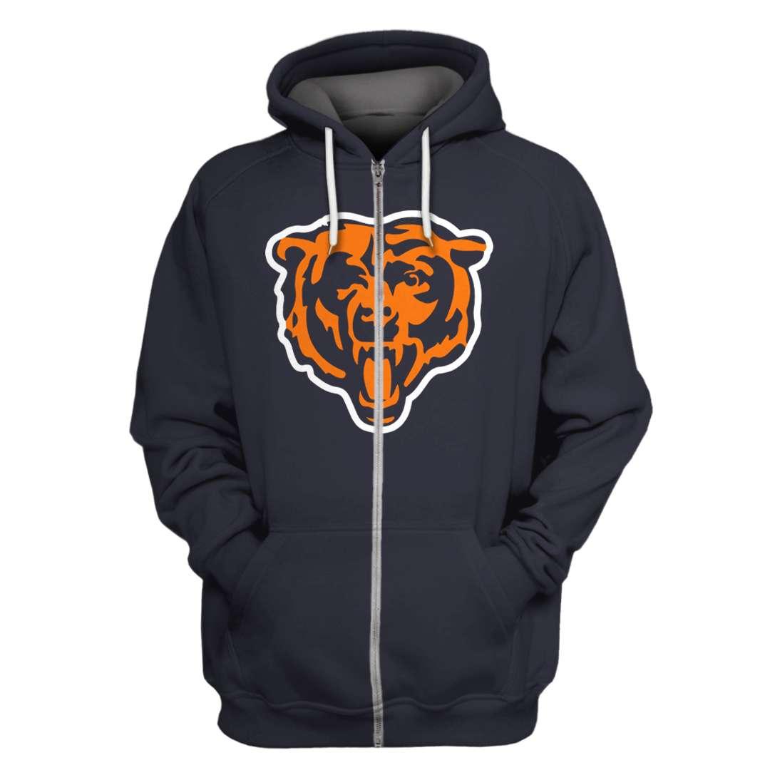 Personalized Chicago Bears Full Printed hoodie sweatshirt