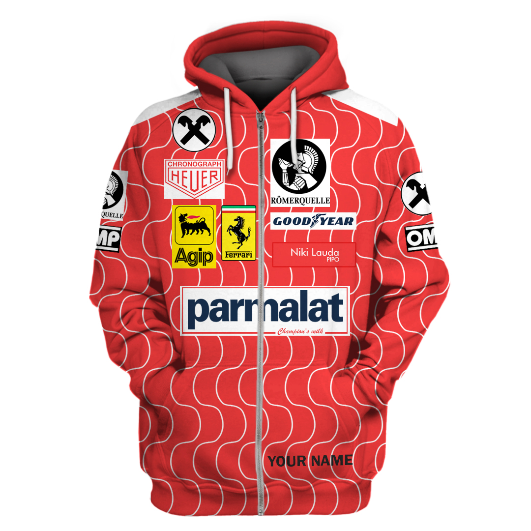 Personalized Parmalat F1 Racing Team hoodie and T Shirt