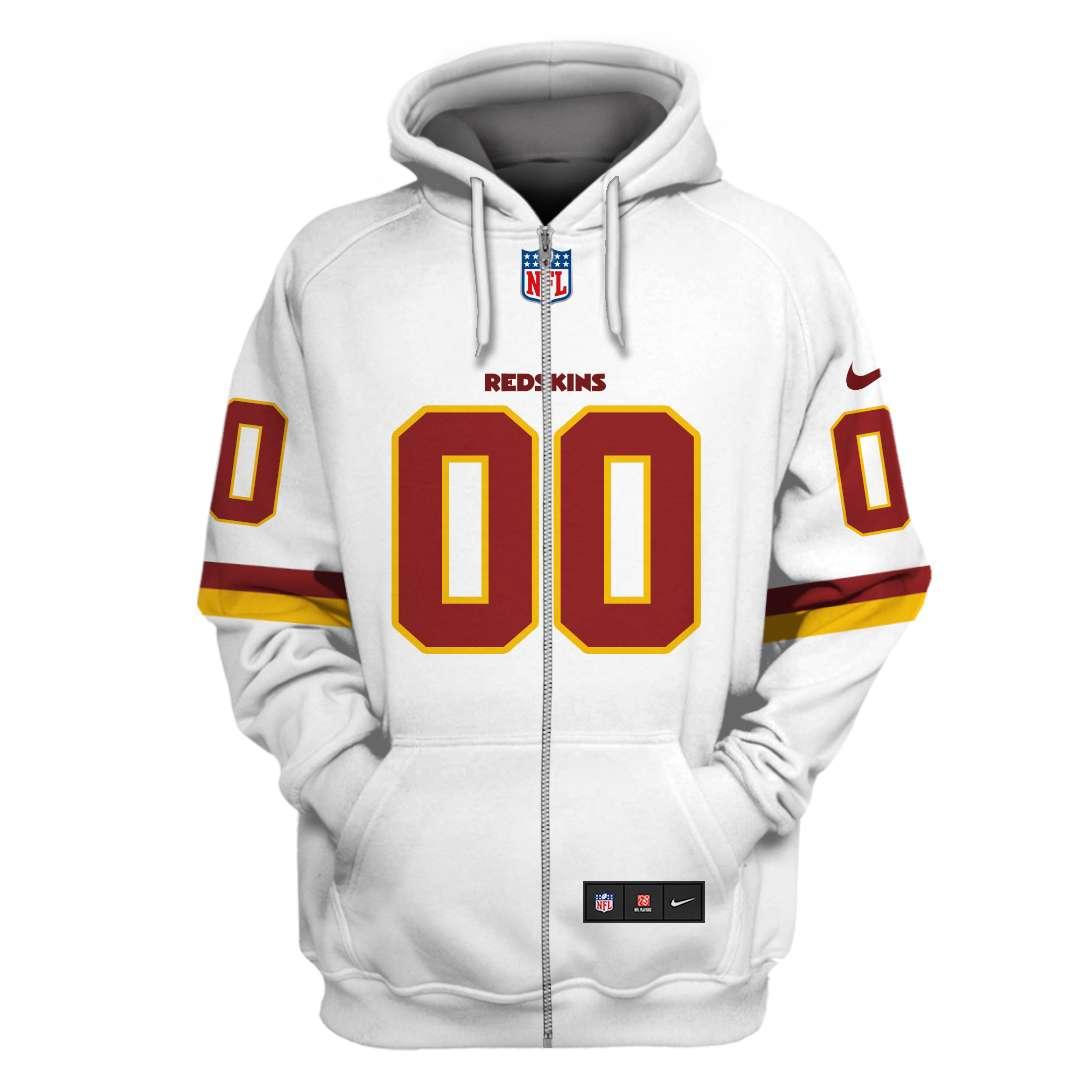 Custom Name Number Washington Redskins hoodie and sweatshirt