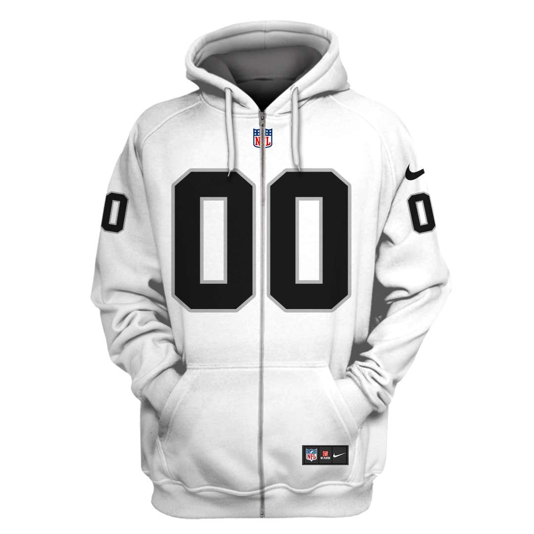 Custom Name Number NFL Oakland Raiders 3D T-shirt hoodie