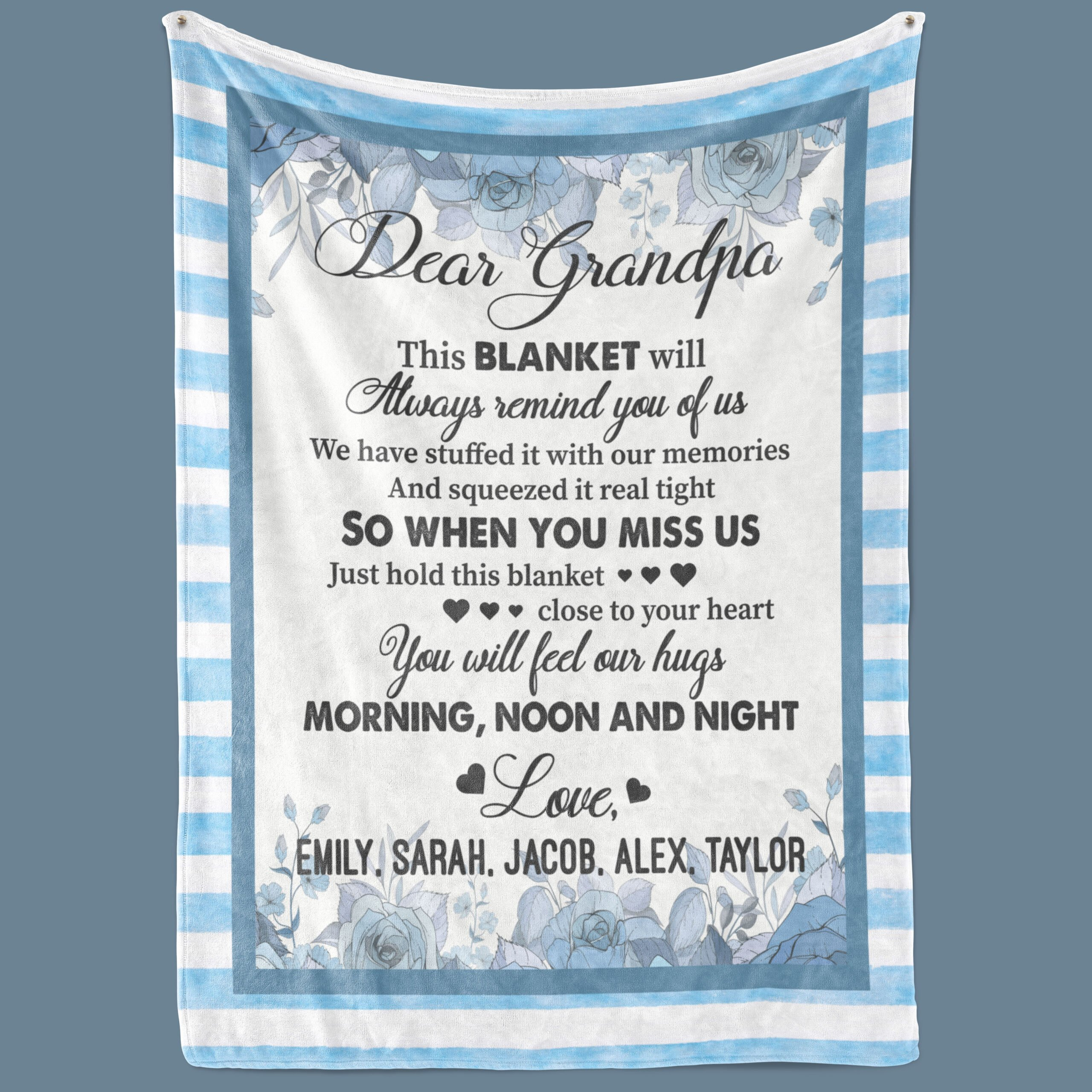 Customized Fleece Blanket for Grandpa We Have Stuffed It With Our Memories