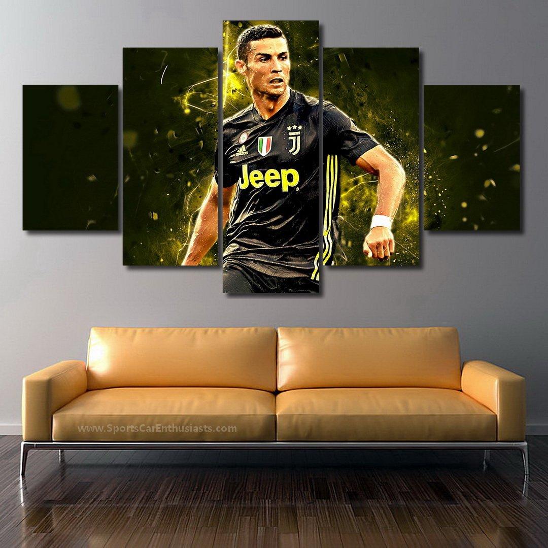 Cristiano Ronaldo Juventus FC Canvas 5 panel