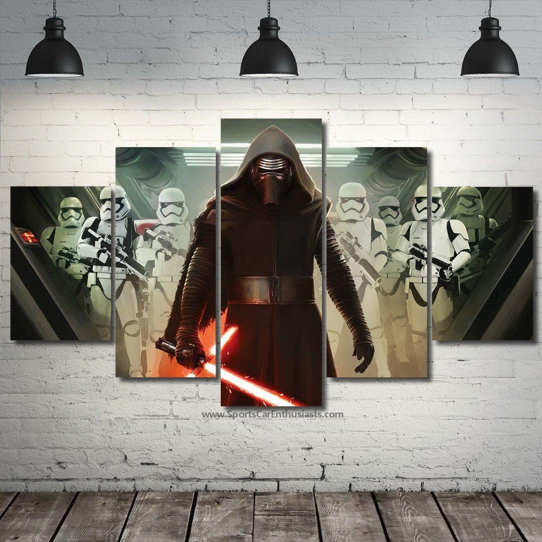 Darth Vader Star Wars Stormtrooper Canvas 5 panel