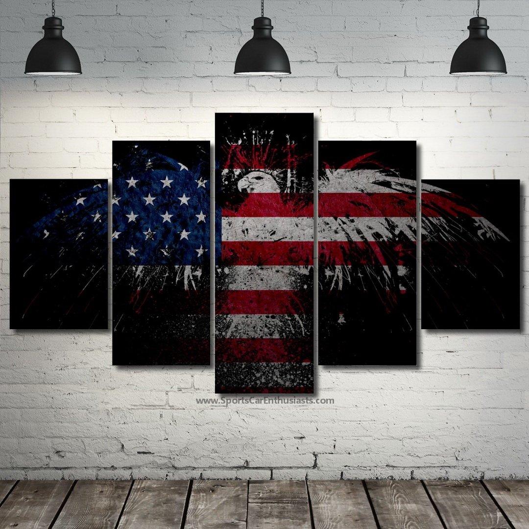 USA Flag Canvas 5 panel