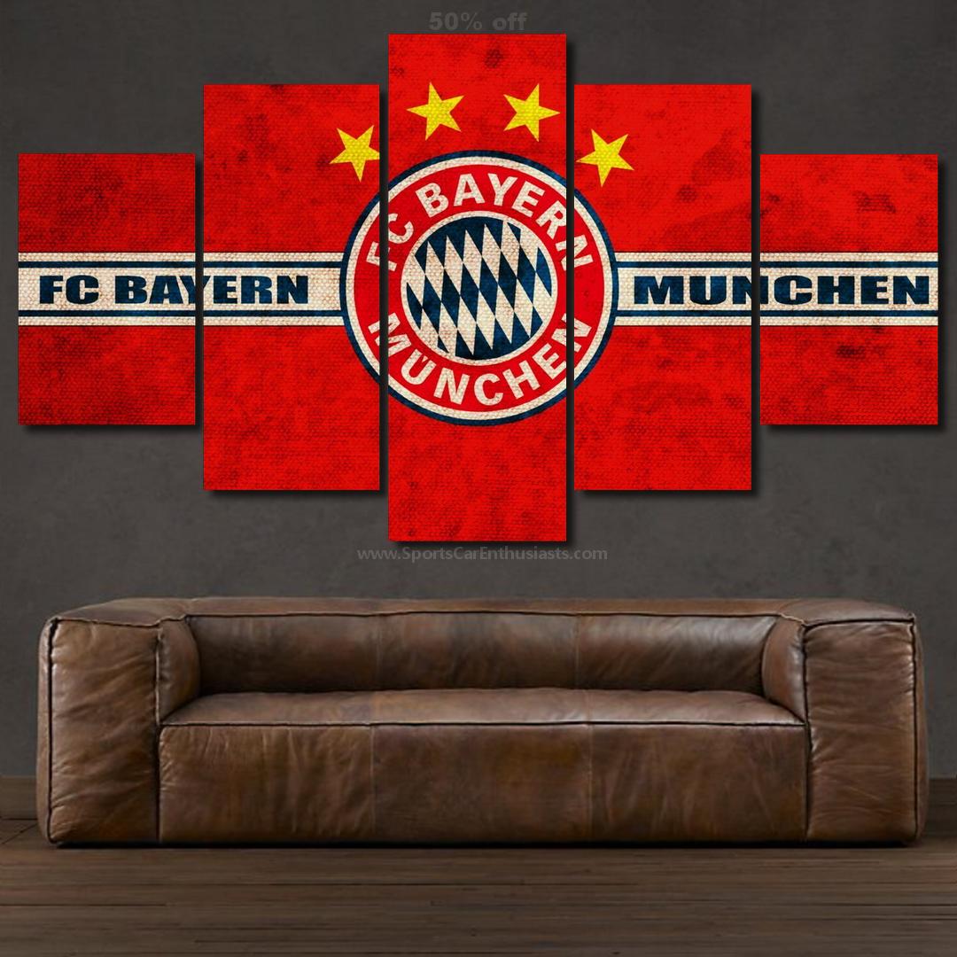 Bayern Munchen FC Canvas 5 panel