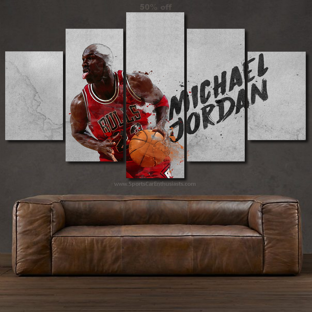Michael Jordan Baseball Canvas 5 panel