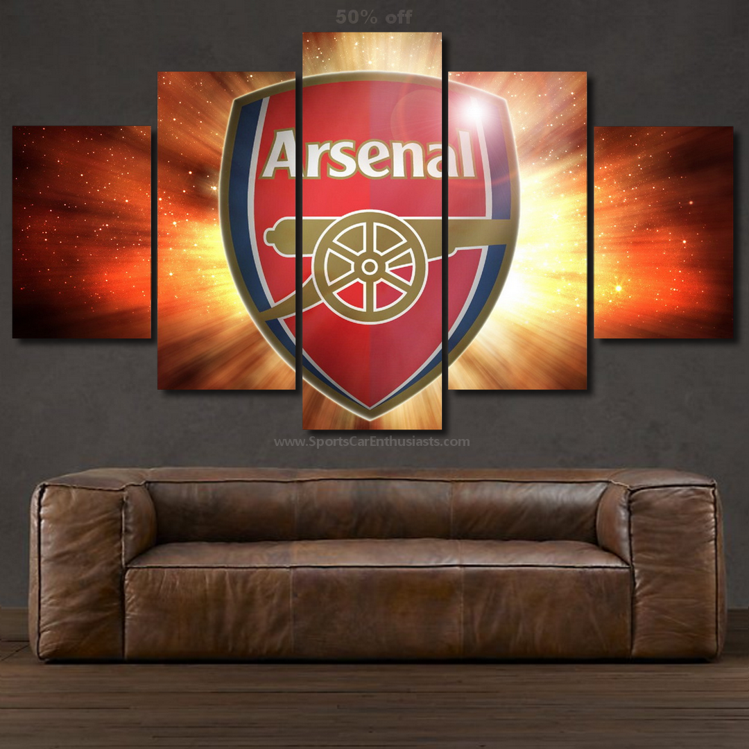 Arsenal FC Canvas 5 panel