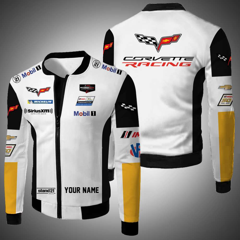Personalized Corvette Racing Bomber Jacket