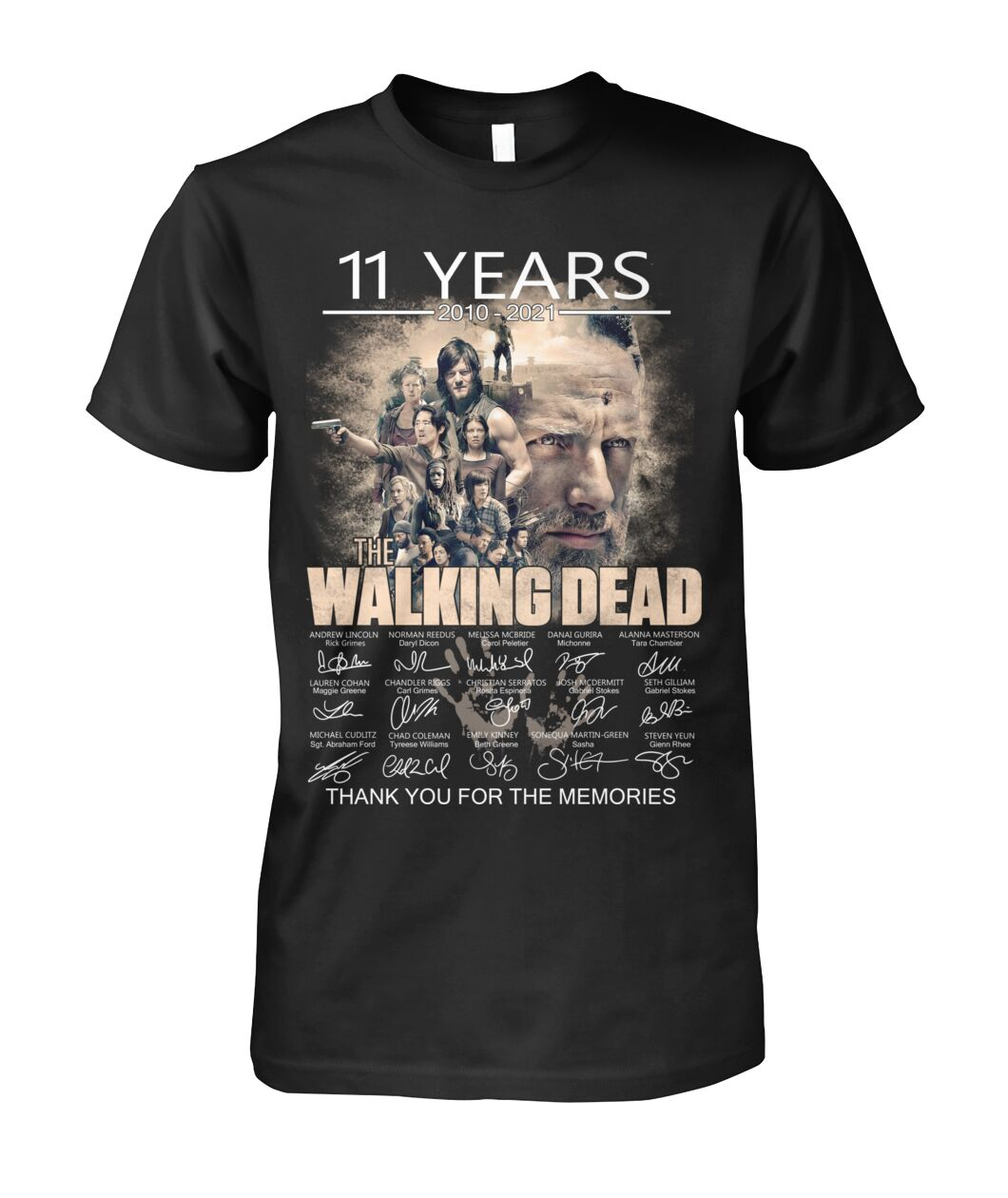 11 years The Walking Dead Signatures Thank You For The Memories Shirt