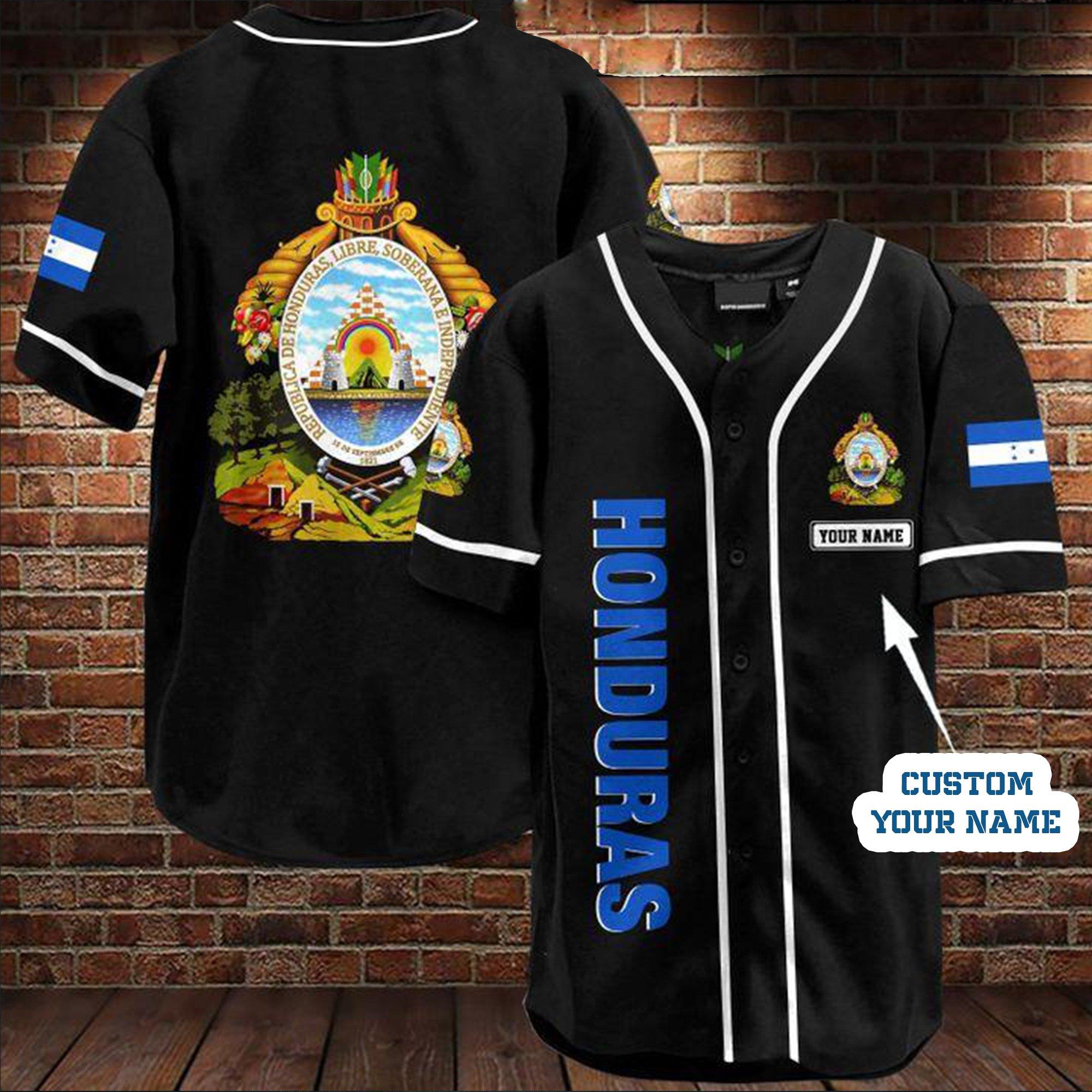 Custom Name Honduras Baseball Jersey Shirt