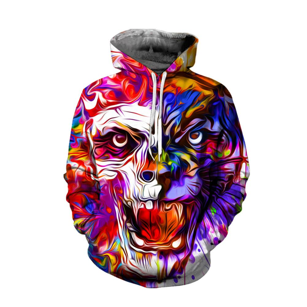 3D All Over Skull and Leopard Printed Clothes
