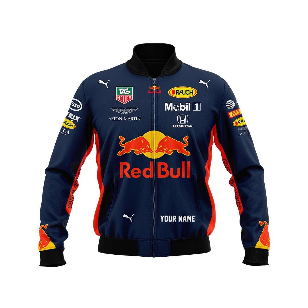 Red Bull Aston Martin F1 racing bomber jacket
