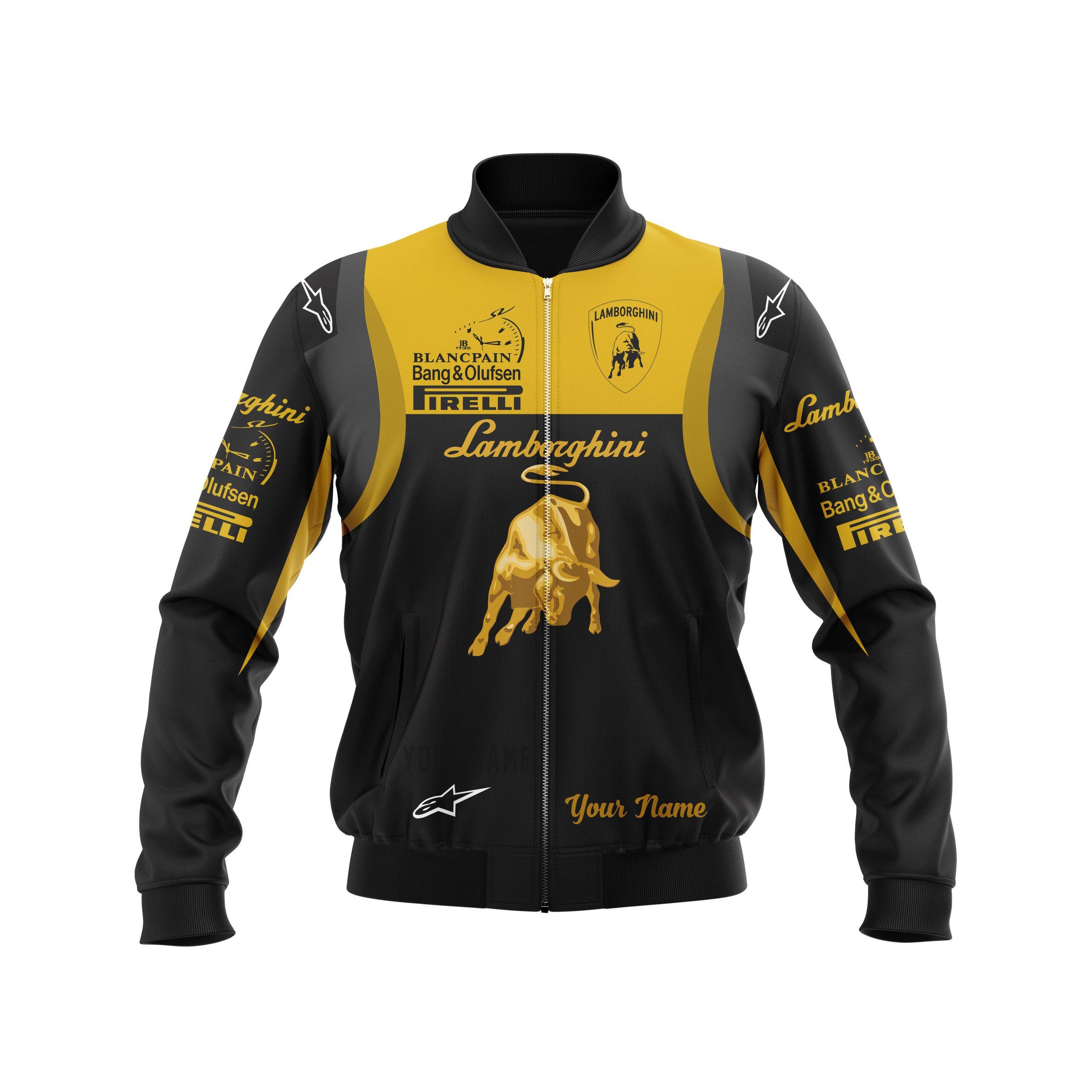 Personalized Lamborghini Formula 1 3D bomber jacket