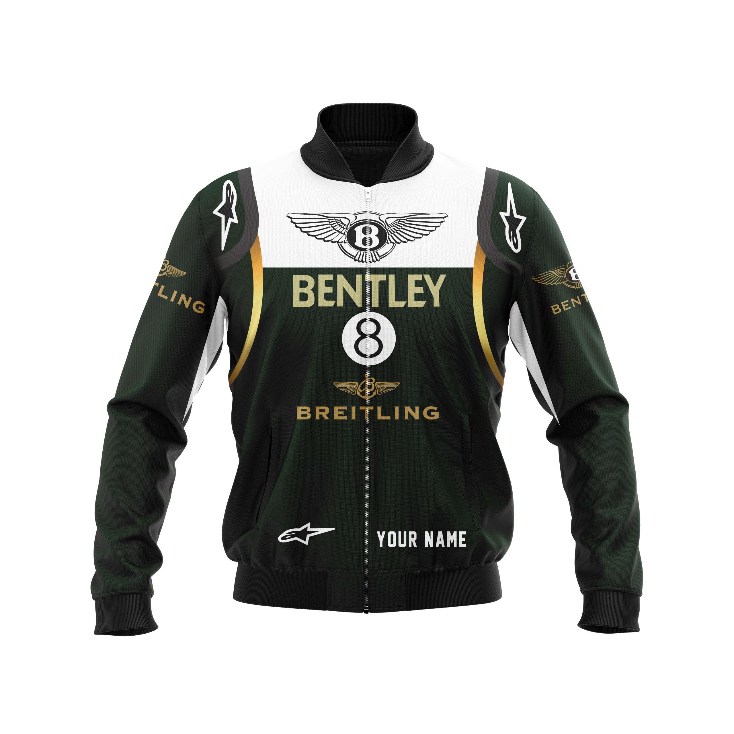 Personalized Bentley Breitling F1 racing Bomber Jacket