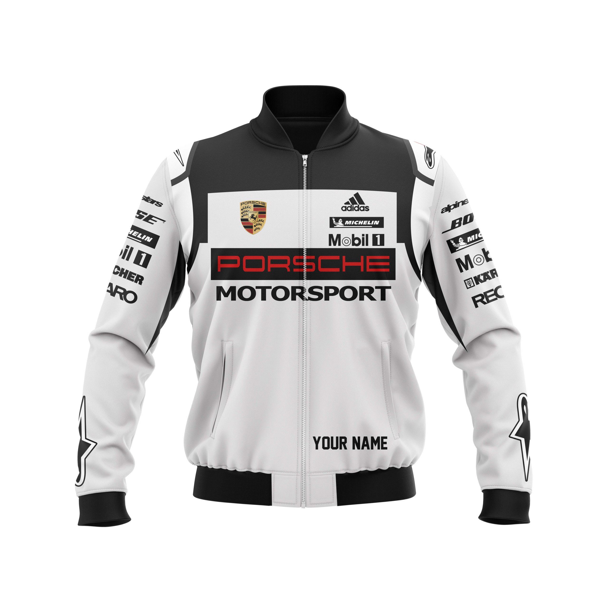 Custom Name Porsche Motorsport racing T shirt hoodie bomber jacket