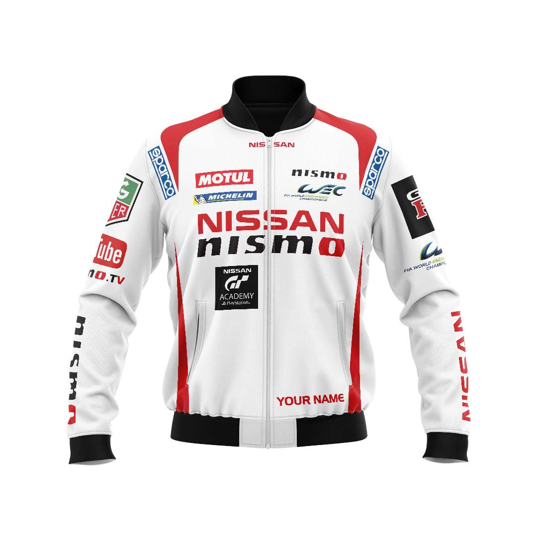Personalized Nissan Nismo racing bomber jacket