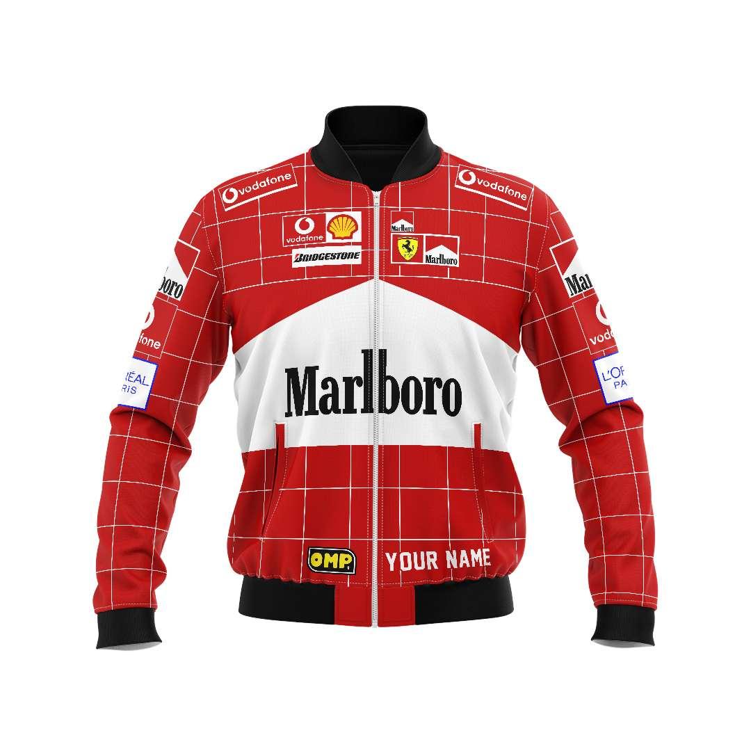 Personalized Marlboro F1 racing bomber jacket