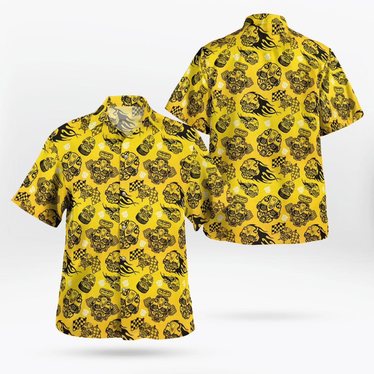 Transformers Bumblebee pattern Hawaiian Shirt Summer Shirt