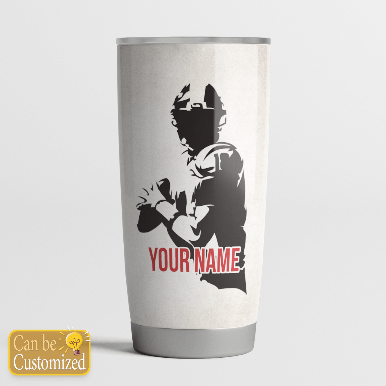 Personalized tumbler American football rugby thanks dad