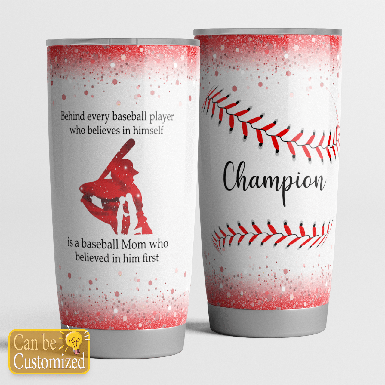 Personalized Behind every batter players is baseball mom tumbler
