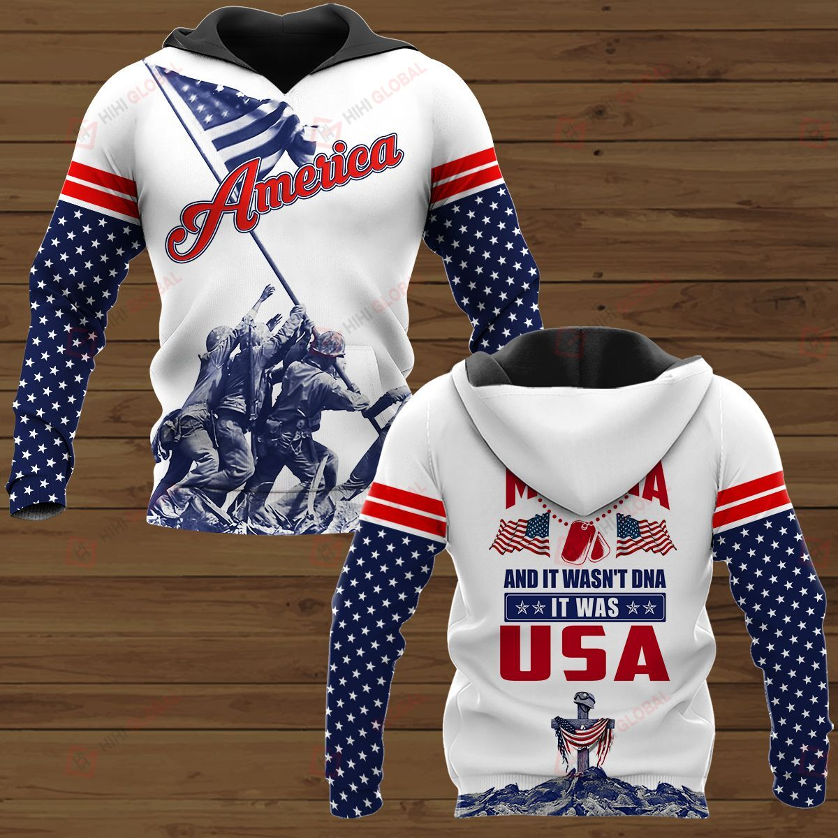 3D Shirt They tested my DNA It was USA American Soldier
