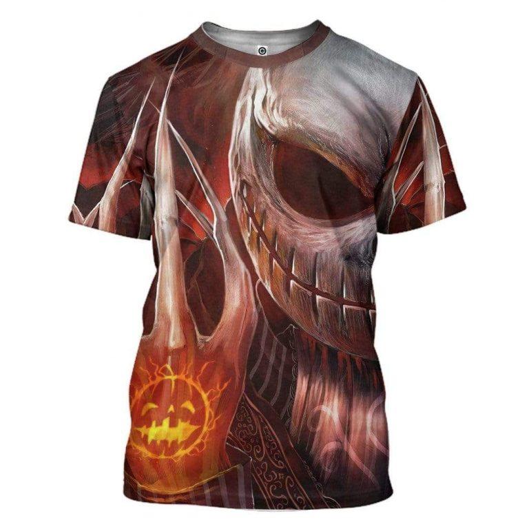 Jack Skellington Pumpkin Halloween T shirt 3D