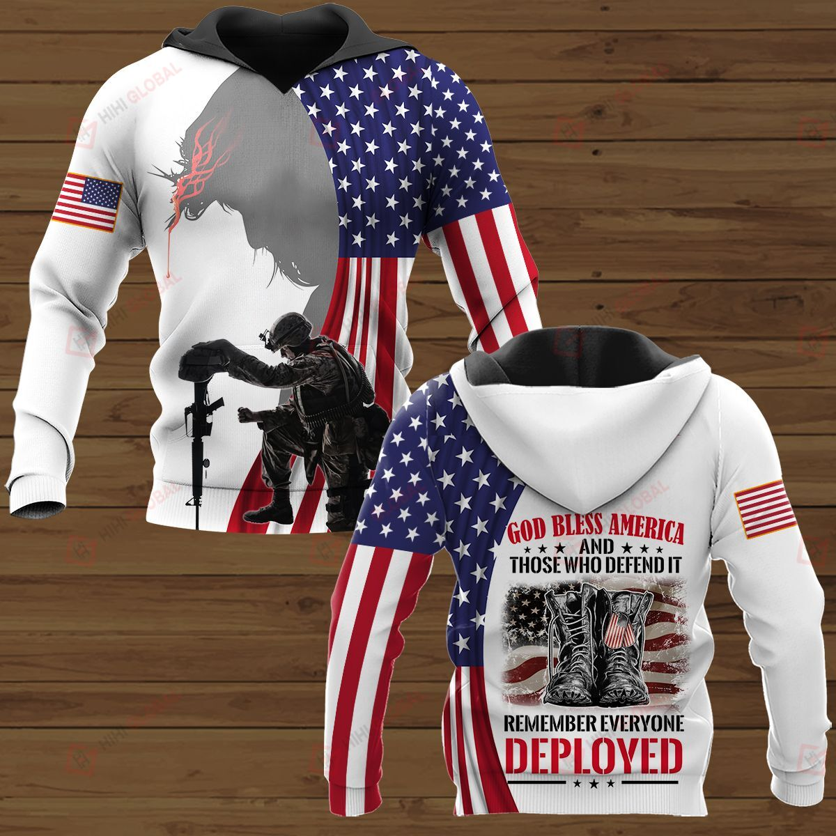 God bless America and those who defend it remember everyone employed 3D Shirt
