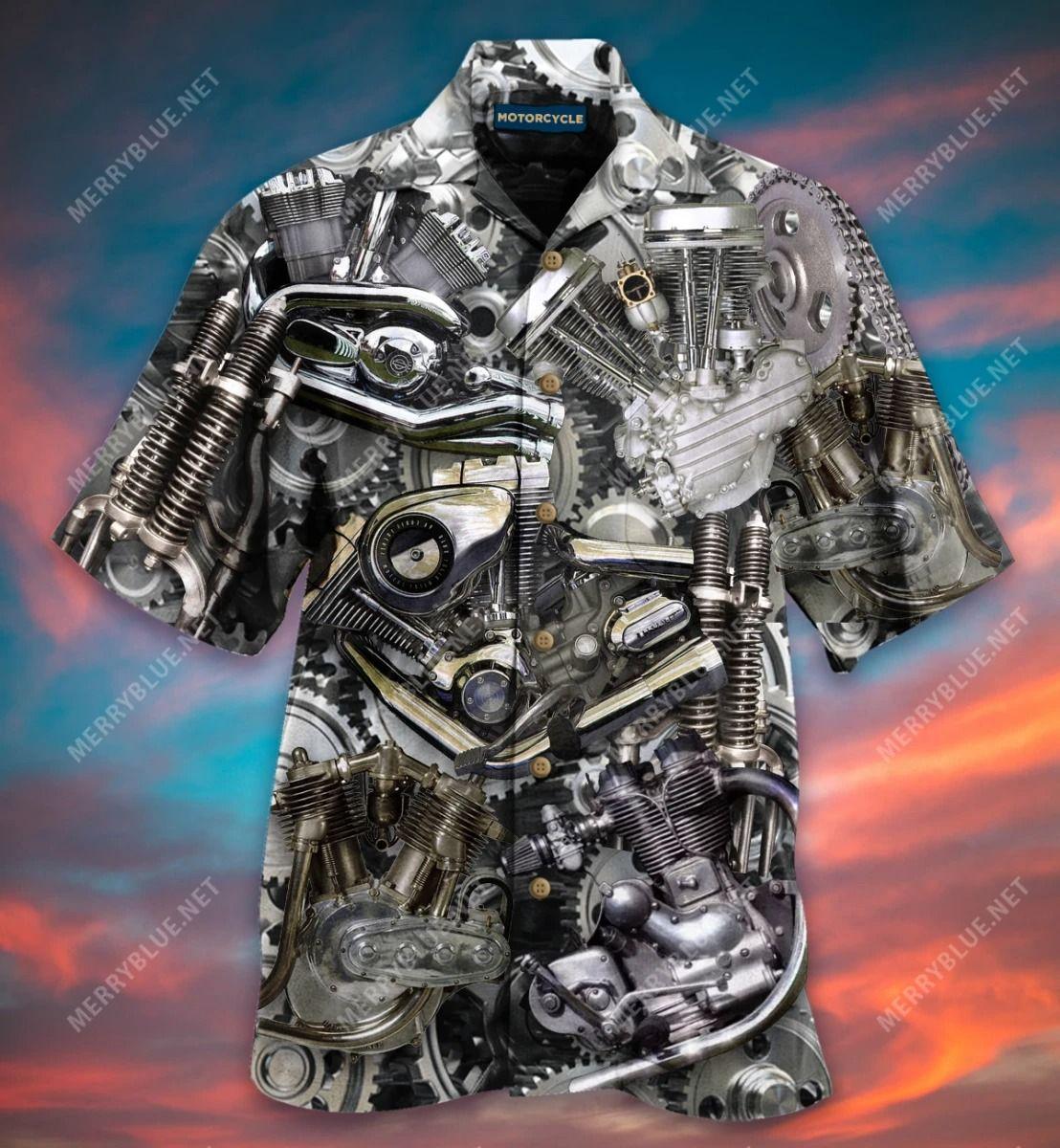 Bikers Don'T Go Gray We Turn Chrome Hawaiian Shirt