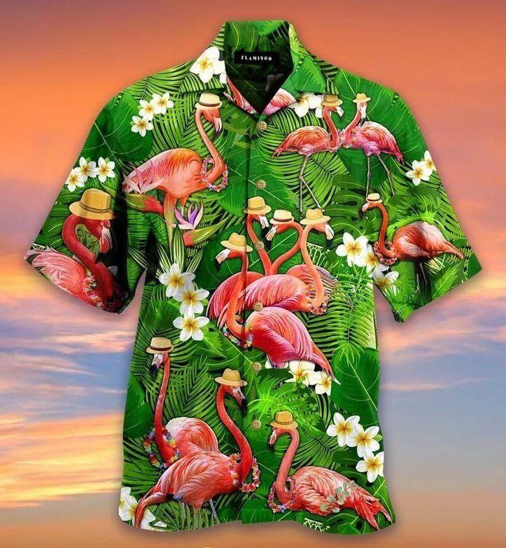 Stand Tall And Be Fabulous Flamingo Hawaiian Shirt