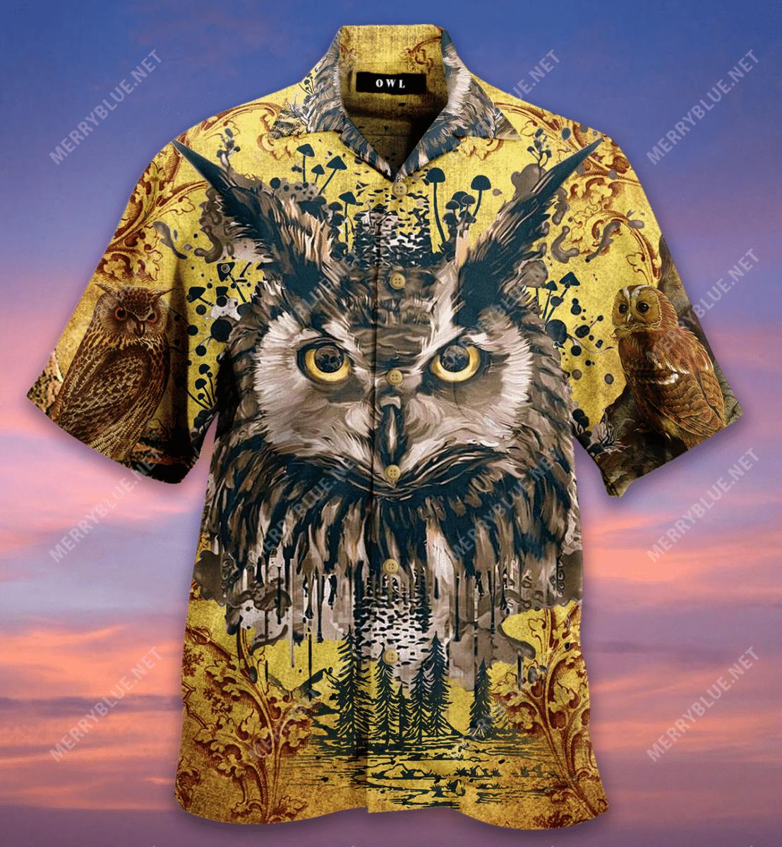 Amazing Vintage Owl Hawaiian Shirt