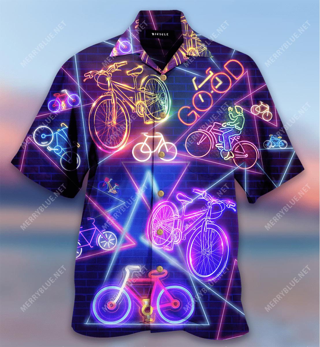 Bicycle Life Is Good Hawaiian Shirt