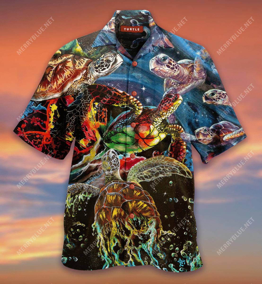 Ink Waves Of Turtle Hawaiian Shirt