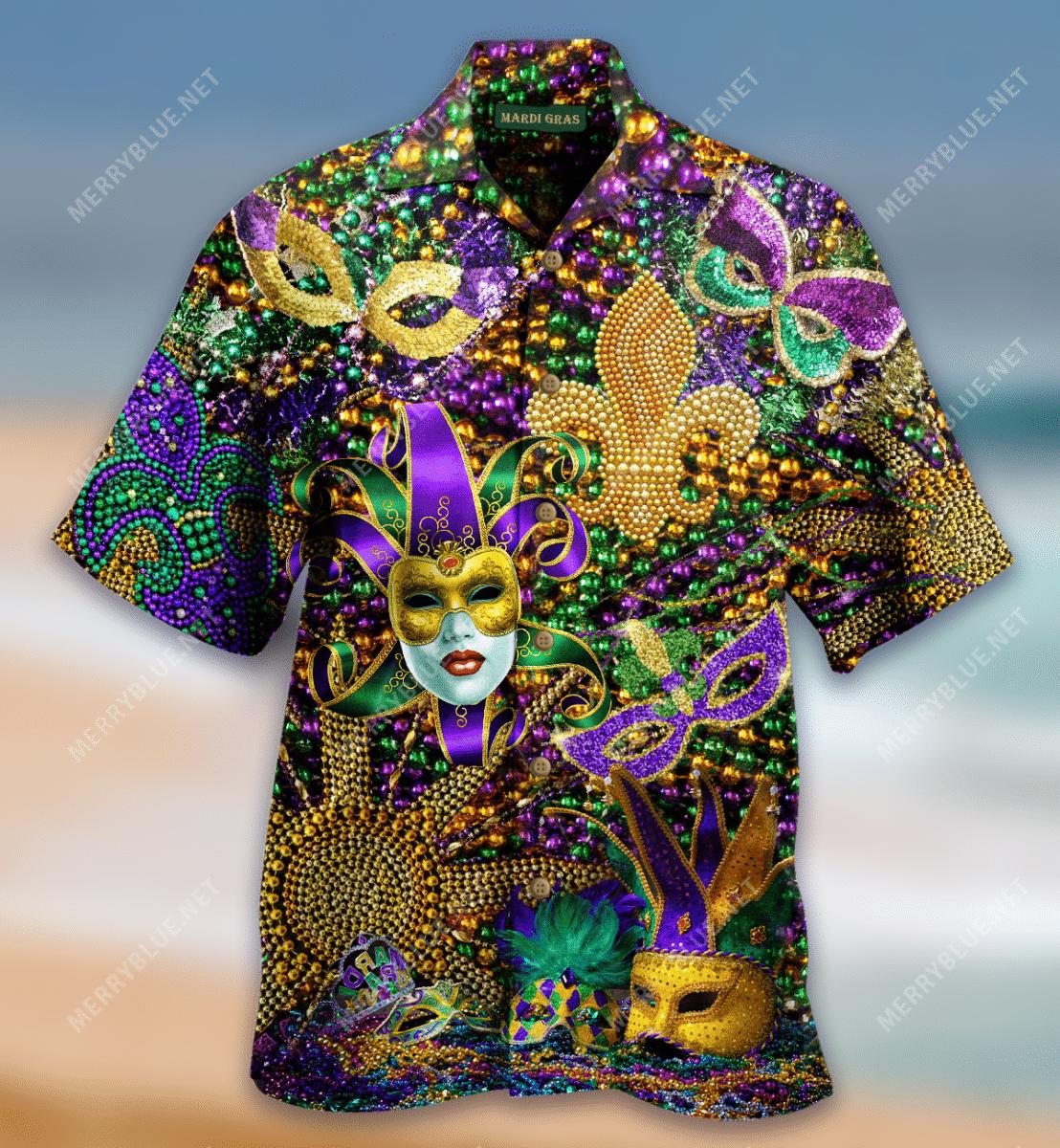 Happy Mardi Gras Hawaiian Shirt