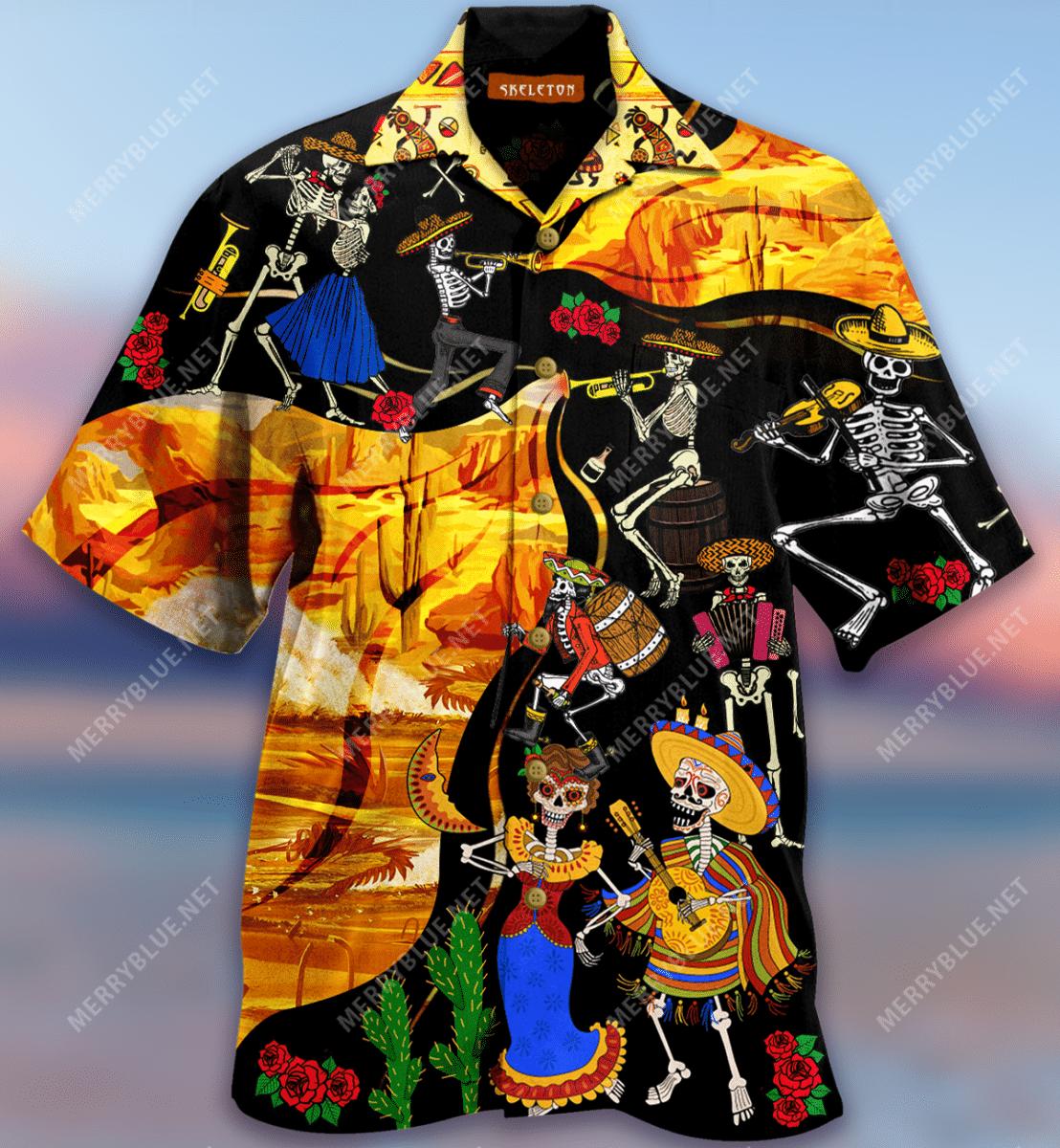 Mexican Day Of The Dead Carnival Hawaiian Shirt