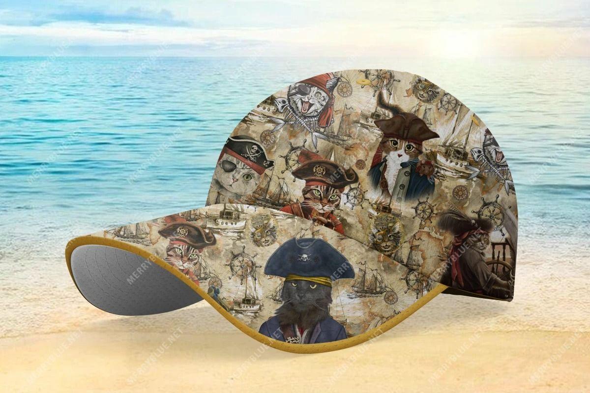 Amazing Pirate Cat Hawaiian Cap