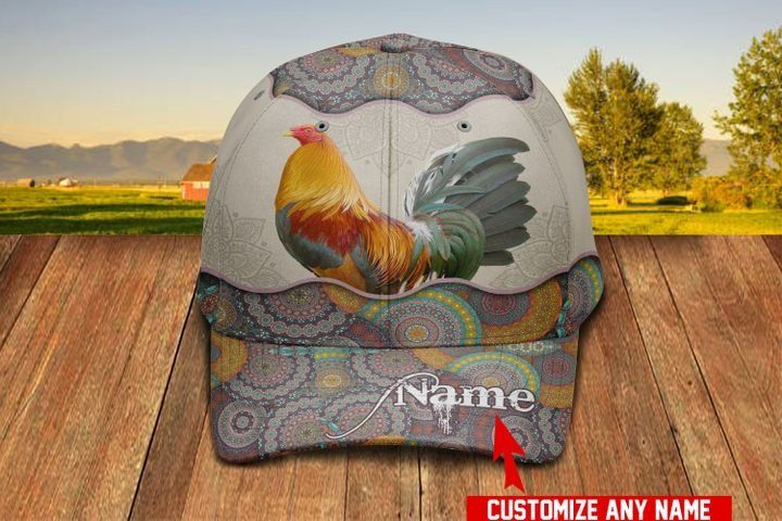 Love Rooster Gear Personalized Name Hawaiian Cap