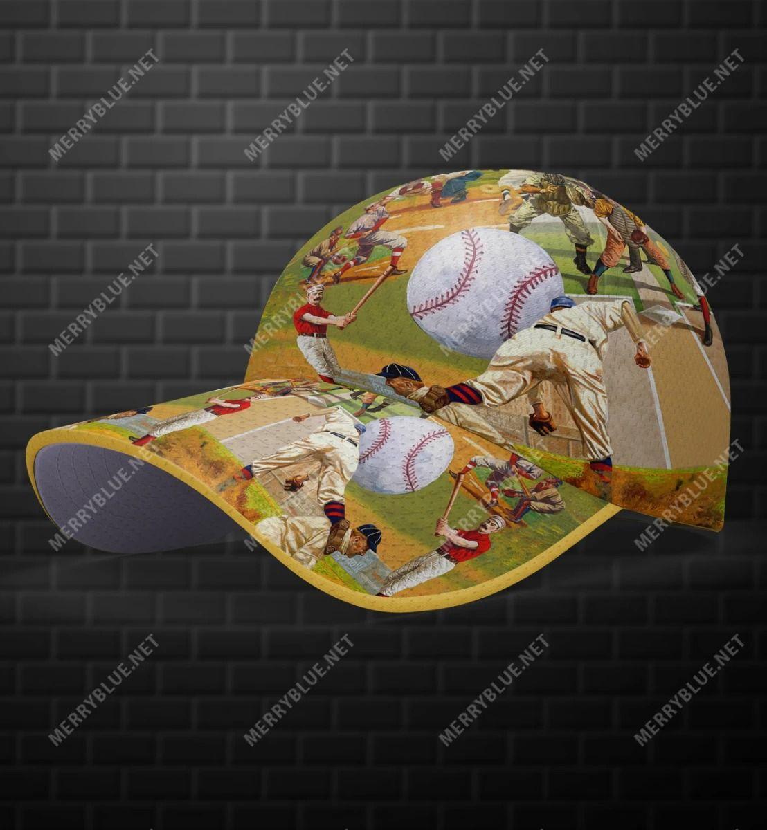 Playing Baseball Hawaiian Cap